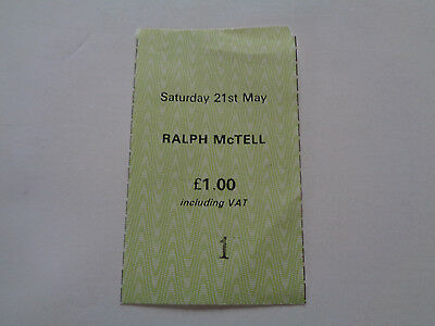 RALPH McTELL CONCERT TICKET STUB 21ST MAY 1970S FREE TRADE HALL MANCHESTER UK
