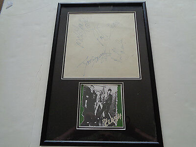 The Clash Autographs Large Signed Display Erics Liverpool 22 July 1978
