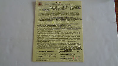 Allman Brothers Full Concert Contract May 23Rd 1979 Uptown Theatre Chicago Il