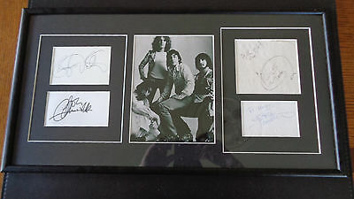The Who Autograph / Signed Display Moon ,daltrey, Townsend,entwistle