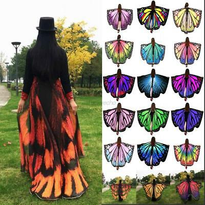 Women Butterfly Wings Shawl Scarves Fashion Nymph Pixie Poncho Costume Accessory
