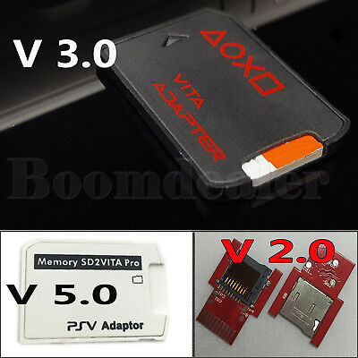 V3.0 2.0 256G SD2VITA PSVSD MicroSD Memory Card Adapter for PS Vita Henkaku 3.60