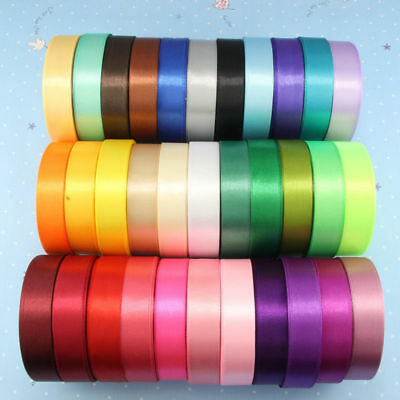 25YD Satin Ribbon 10mm 20mm Bow Multi Craft Wedding Supplies Flower Fabric Party