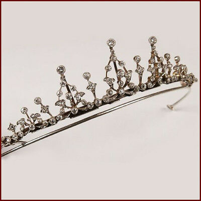 Royal Engagement Vintage INSP 5.20Ct Rose Cut Diamond Silver Handmade Tiara @CSJ