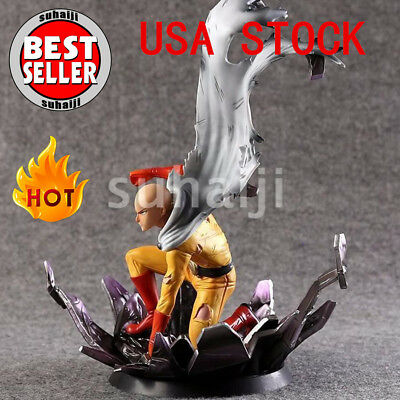 "10"" One Punch Man Saitama PVC Statue Figure Hero Come Back from the Moon Tsume"