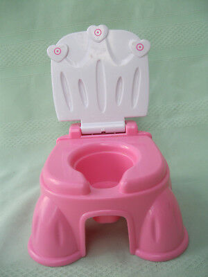 Tollytots Pink & White Dolls  Portable Potty With  Sound