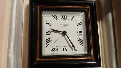 Lovely Vintage Le Must De Cartier Travel/alarm Clock Complete With Box