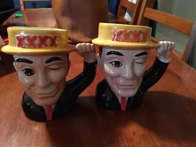 Collectable Castlemaine XXXX Beer Ceramic Cups Made In China  X 2