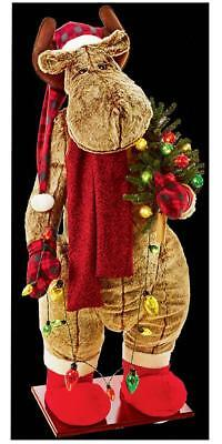 Musical Inflatable Moose 20 LEDs - Plays Xmas Tunes 1.5 Metres