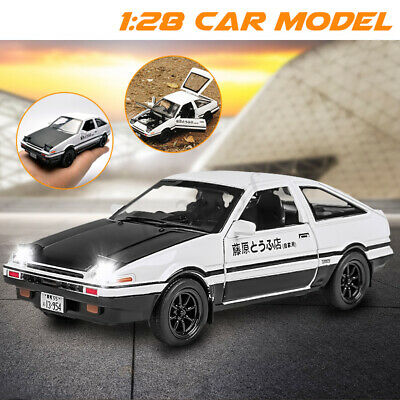 New 1:28 Initial D Toyota AE86 Model Sprinter Drift Car Toy With Sound & Light