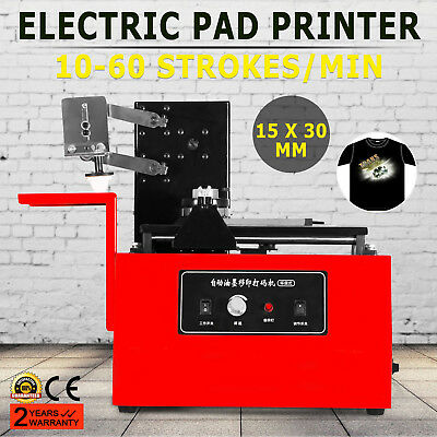 Electric Pad Printer Printing Machine T-Shirt Logos Coding Bottle Desktop Press