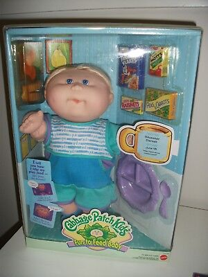 NEW 1998 Mattel Fun To Feed Cabbage Patch Doll - Vintage / Collectable