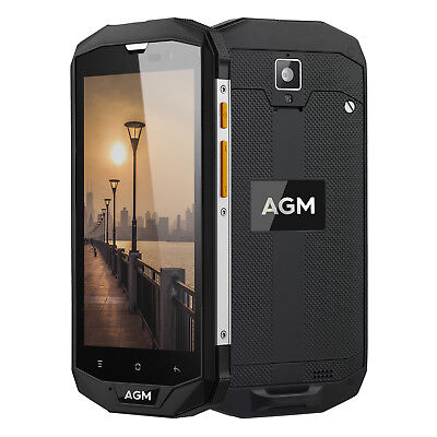 """IP68 32GB 4G Cellulare 5"""" AGM A8 Android 7.0 Quad Core Smartphone 13MP 4050mAh"""
