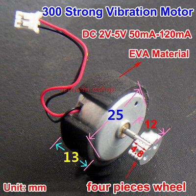 DC 2V-5V 120mA Micro 300 Carbon Brush Vibration Motor for Electric Massager DIY
