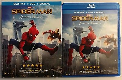 Spider Man Homecoming Blu Ray Dvd 2 Disc Set + Slipcover Sleeve Free Shipping