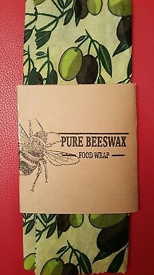beeswax food wrap  1 piece Olives 34cm x28cm