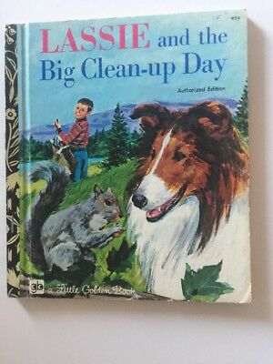 Lassie And The Big Clean Up Day - Little Golden Book