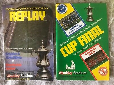 Brighton & Hove Albion 1983 FA Cup final and replay programmes inc ticket stubs