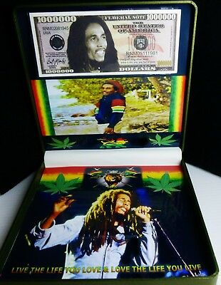 Bob Marley The Legend Memorabilia With 1000000 Dollar Bill In New Ex Large Case