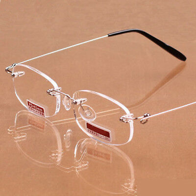 Clear Light Weight Rimless Reading Glasses Presbyopic Glasses +1.0~+4.0