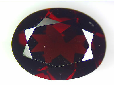 2.07 Ct Natural Dark Red Pyrope Garnet Loose Gemstone Oval Faceted Cut 9.1 X 7.0