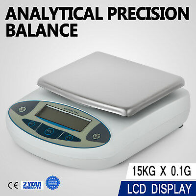 15kg x 0.1g 33LB Lab Balance Electronic Scale for Laboratories Herb Jewellery