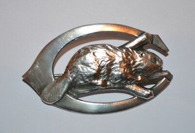 Solid silver culver military academy Beaver Badge 1920/30's - hallmarked