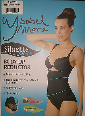 Faja reductora Ysabel Mora 19621. Body UP. Efecto tanga. Color Negro. Talla XL