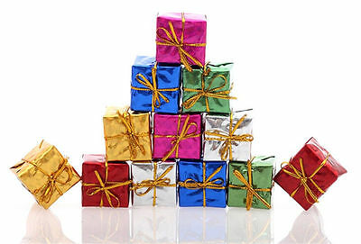 12Pcs Pretty Christmas Tree Ornaments Xmas Tree Hanging Gift Box Decoration