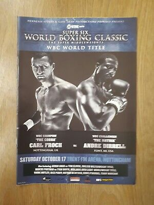 World Boxing Classic WBC World Title Carl Froch v Andre Dirrell Programme