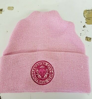 PINK Leicester City  Ladies Girls wooly Hat Beanie Hat The Foxes Blue Army