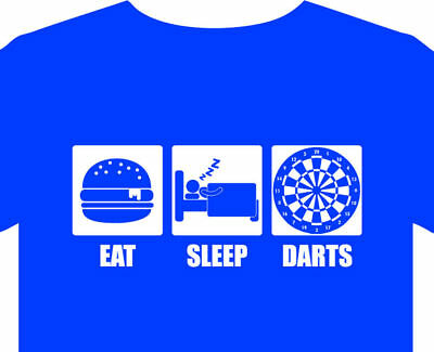 Darts T shirt up to 5XL dartboard cabinet competition rules book case