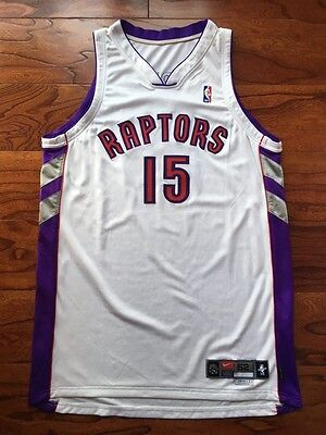 2000-01 Vince Carter Toronto Raptors Game Used Issued Jersey