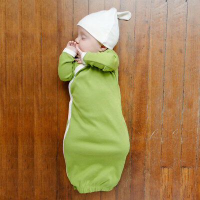 Unisex Baby Hat and Gown Layette Set Long Sleeve Sleeping Bag