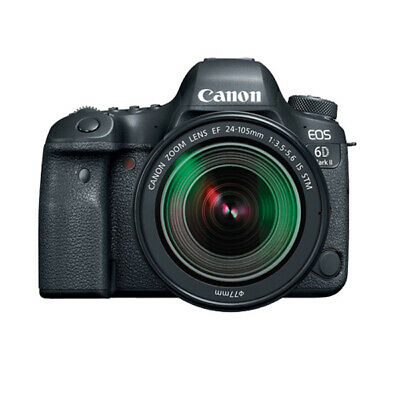 Canon EOS 6D II EF 24-105mm f3.5-5.6 IS STM IS Lens Kit (Multi) Ship from US