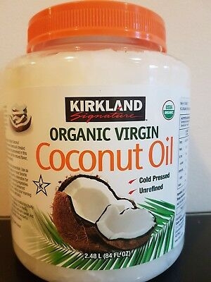 Certified Organic COCONUT OIL 2.48Litre ~ 100% Pure Virgin ~ Cold Pressed