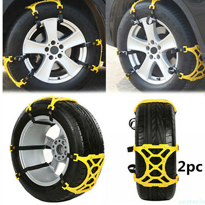2x Car Truck Off-Road SUV Safe Snow Tire Tyre Chain Anti-skid Universal Chain %E