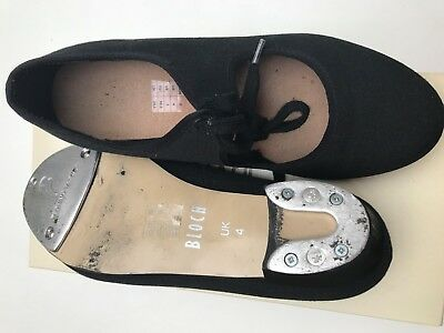 *USED ONLY ONCE* Black Bloch canvas low heel tap shoes - size 4