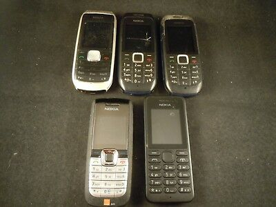 Job lot of 5 Nokia mobile phones for spares - faulty/not working