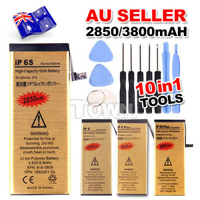 Gold High Capacity Battery Replacement + Tools For iPhone 6/6 Plus/6S/6S Plus AU