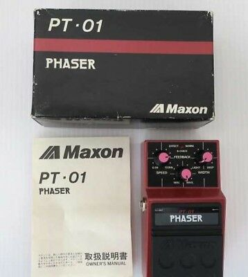 Used! MAXON PT-01 Phaser Vintage Guitar Effects Pedal Made in Japan