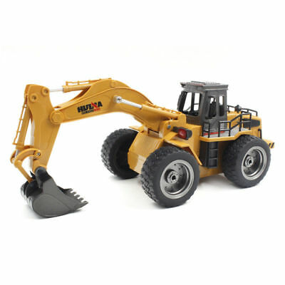 HUINA 1530 6-Channel 2.4G 1/18RC Alloy Excavator USB Engineering RC Car Toy Gift