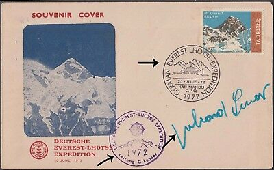 Nepal Souvenir Cover From Nepal On Deutsche Everest Lhotse Exp. Signed By Mounta