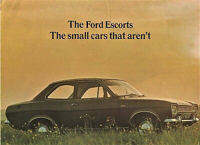 Ford Escort Mk1 Deluxe Super Gt Coupe Sales Brochure Fold Out