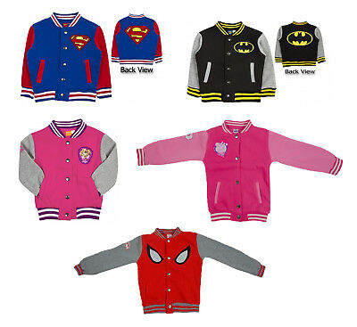 Official Kids Characters Baseball Varsity Jacket Boys & Girls Superhero Coat
