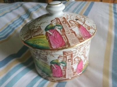 Scottish David Lockhart and sons Glasgow RARE Purity pattern Lidded pot Exc cond