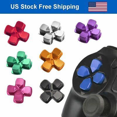 Replacement Metal Chrome D-pad Bullet Buttons for Playstation 4 PS4 Controller