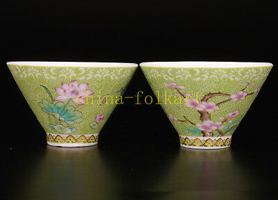 Porcelain Painting Beautifully Decorated With Small Bowl Teacup Collectable