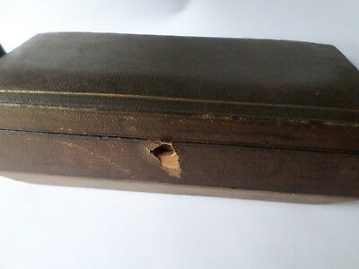 Antique early 20th century jewellery casket (some issues) Skinner of London