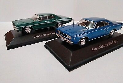 Chevrolet impala + Dodge coronet 440 escala 1/43 autos memorables México
